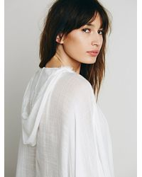 Free People | White Chill Away Hoodie | Lyst