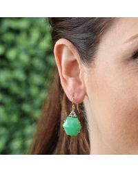 Jemma Wynne | Green Hexagon Shape Chrysoprase Earrings | Lyst