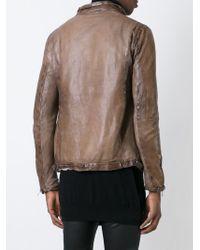 Giorgio Brato | Brown Front Zip Jacket for Men | Lyst