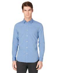 Calvin Klein | Blue Slim Fit Sportshirt for Men | Lyst