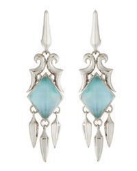 Stephen Webster | Metallic Blue Cat\'S Eye Triplet Spike Drop Earrings | Lyst