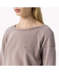 Tommy Hilfiger | Pink Cotton Blend Sweatshirt | Lyst