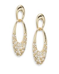 Ak Anne Klein - Metallic Interlocking Link Drop Earrings - Lyst
