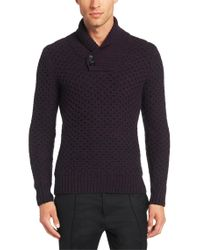 HUGO - Purple 'surtle'   Virgin Wool Textured Sweater for Men - Lyst