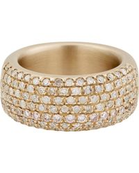 Roberto Marroni | Metallic Women's Pave Wide Band | Lyst