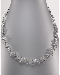 Givenchy | Metallic Silver Collar Vine Necklace | Lyst