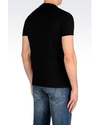 Armani Jeans - Black Print T-shirt for Men - Lyst