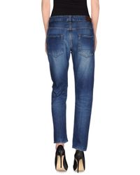 People - Blue Denim Trousers - Lyst