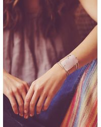 Free People - Pink Womens Claw Stone Cuff - Lyst