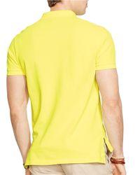 Polo Ralph Lauren | Yellow Custom-Fit Mesh Polo Shirt for Men | Lyst