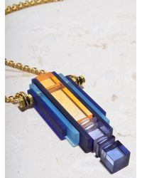 Lily Kamper | Long Rise Pendant In Blues - Sold Out | Lyst