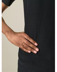 Eddie Borgo | Metallic Double Layered Ring | Lyst