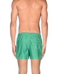 Franklin & Marshall - Green Swimming Trunk for Men - Lyst