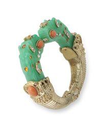 Kenneth Jay Lane | Green Jade Dragon Head Bracelet | Lyst
