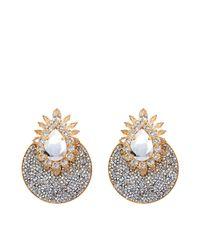 Shourouk | Metallic Luna Comet Earrings | Lyst