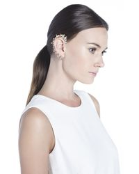 BCBGMAXAZRIA | White Jeweled Right Ear Cuff | Lyst