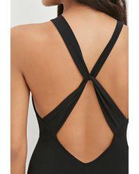 Forever 21 - Black Crisscross-back Bodycon Maxi Dress - Lyst