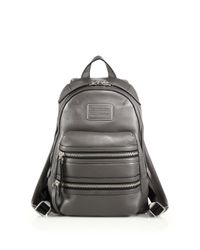 Marc By Marc Jacobs - Gray Domo Leather Biker Backpack - Lyst