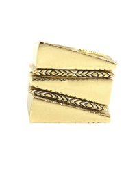 House of Harlow 1960 | Metallic Shifting Planes Ring Stack | Lyst