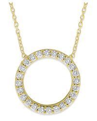 KC Designs | Yellow 14k Gold And Diamond Open Circle Necklace | Lyst