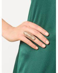 Venyx - Metallic 'lady Gator' Ring - Lyst