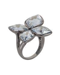 Aurora | Metallic Flower Ring | Lyst