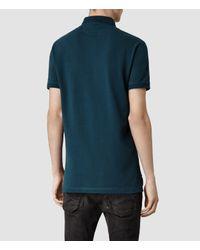 AllSaints - Blue Sandringham Polo for Men - Lyst