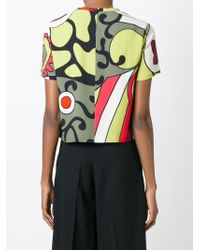 RED Valentino - Multicolor Dotted Print Blouse - Lyst