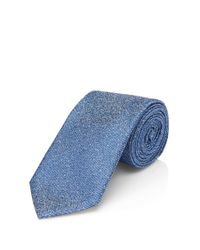 HUGO | Blue 'tie 6' | Slim, Silk Patterned Tie for Men | Lyst