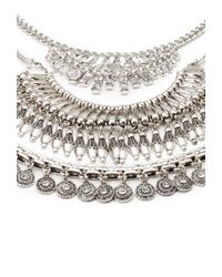 Forever 21 - Metallic Stackable Rhinestone Necklace Set - Lyst