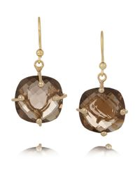 Rosantica | Gray Nobiltà Gold-Dipped Quartz Earrings | Lyst
