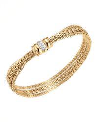 John Hardy - Metallic 18k Gold Bedeg Diamondclasp Bracelet - Lyst