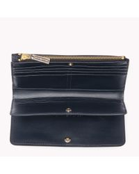Tommy Hilfiger - Black Leather Zip Wallet - Lyst