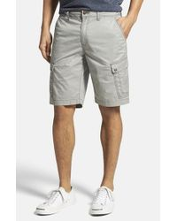 Jeremiah | Gray 'maximus' Twill Cargo Shorts for Men | Lyst
