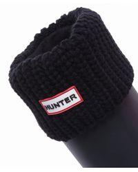 Hunter - Black Half Cardigan Stitch Boot Socks - Lyst