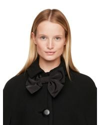 kate spade new york | Black Bow Capelet | Lyst