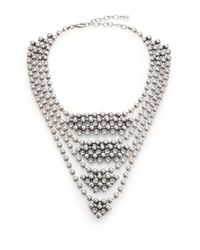 DANNIJO - Metallic Elizabeth Beaded Crystal Bib Necklace - Lyst