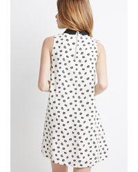 Forever 21 - Black Daisy Shift Dress - Lyst