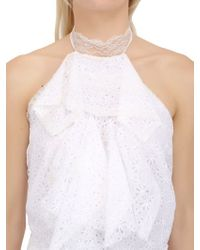 Nina Ricci | White Silk Lace Sangallo Cotton Dress | Lyst