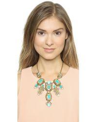 kate spade new york - Metallic Showgirl Gems Necklace - Gold Multi - Lyst