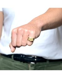 Lulu Frost - Green G. Frost Bullet Shield Ring - Brass for Men - Lyst