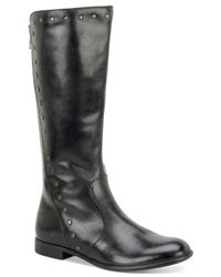 Born | Brown Larsen Stud-trim Tall Boots | Lyst