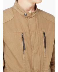 Mango - Brown Cotton Canvas Field Jacket for Men - Lyst