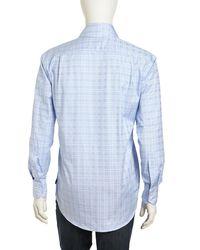 English Laundry - Longsleeve Plaid Buttonfront Poplin Dress Shirt Blue 15 12 32 for Men - Lyst