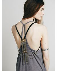 Free People | Black Brixton Harness Vest | Lyst