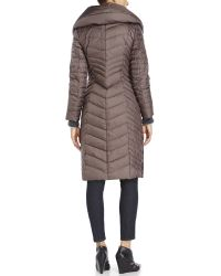 Marc New York | Gray Karen Chevron-Quilted Down Coat | Lyst