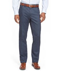 Peter Millar - Blue Cotton Hybrid Pants for Men - Lyst