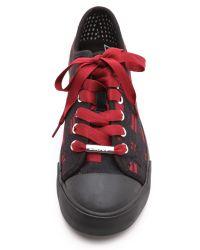 DKNY - Barbara Varsity Plaid Sneakers - Red - Lyst
