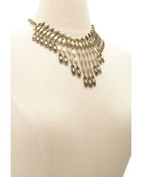 Forever 21 | Metallic Layered Geo Fringe Necklace | Lyst