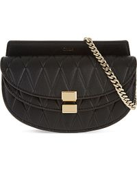 Chloé - Black Georgia Quilted Leather Belt Bag - Lyst